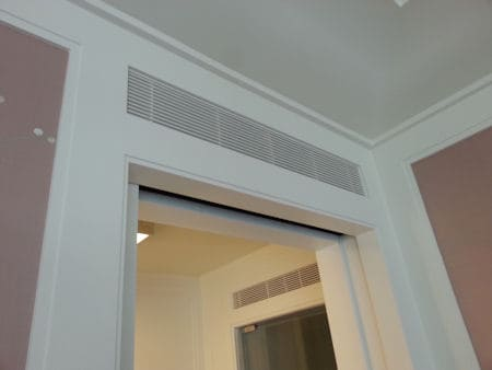 How To Soundproof A Return Air Transfer Grill Above Door