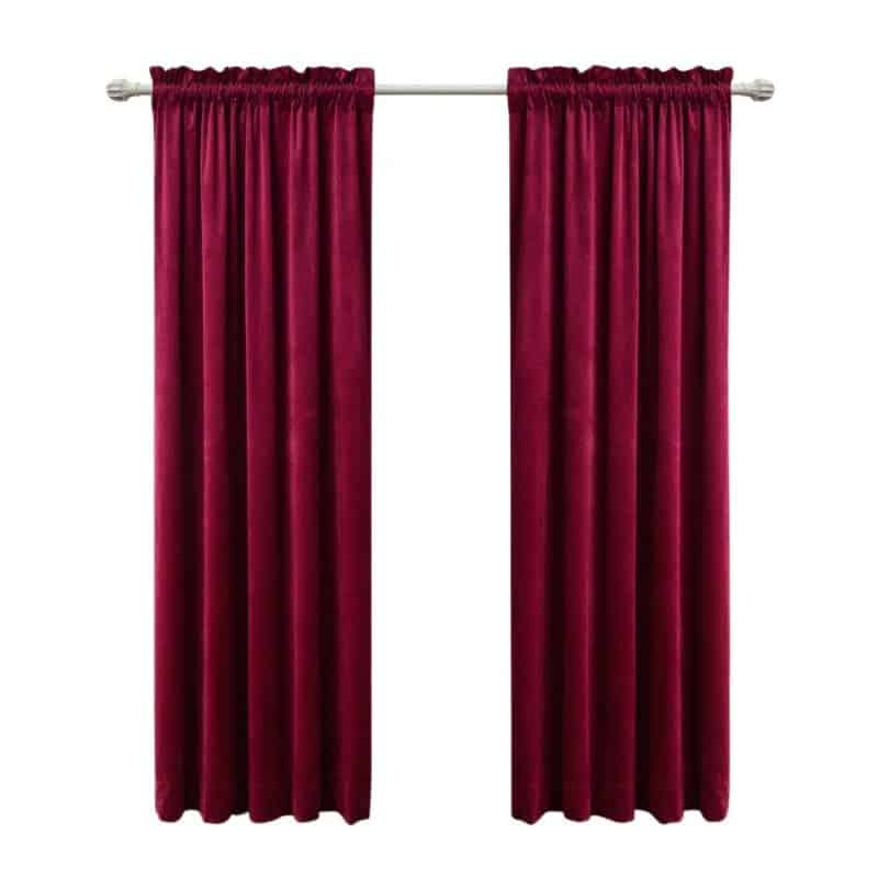 Sideli red Soundproof Curtains