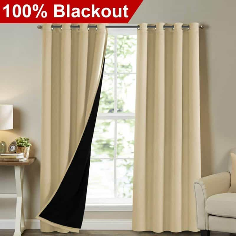 Turquize Full Blackout Soundproof Curtains