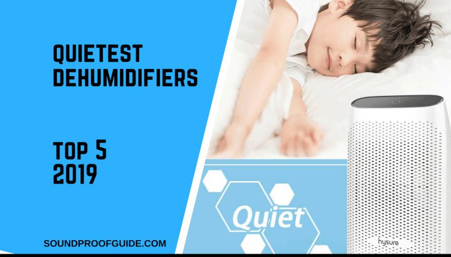 Quiet dehumidifiers